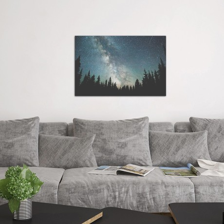 "Stars Over The Forest III (18""W x 26""H x 0.75""D)"