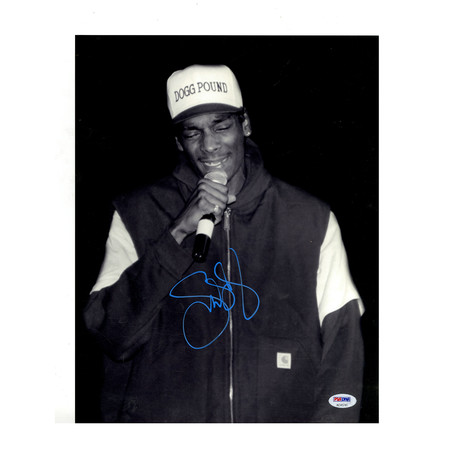 Snoop Dogg Signed Dogg Pound Hat Photo