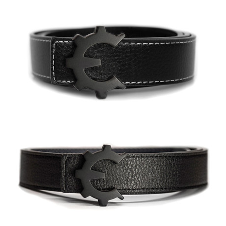 Matte Black Genii Belt // Black