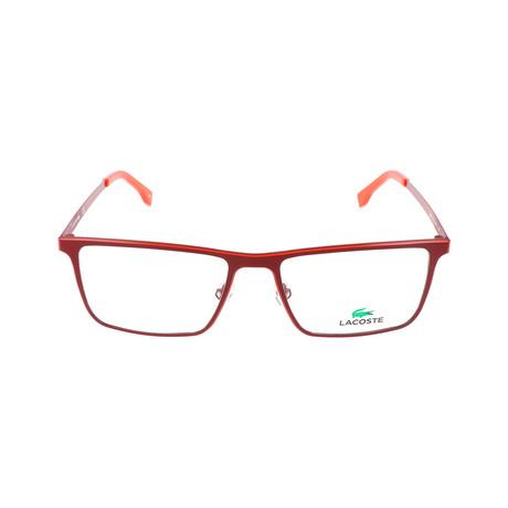 Men's L2232 Optical Frames // Matte Red