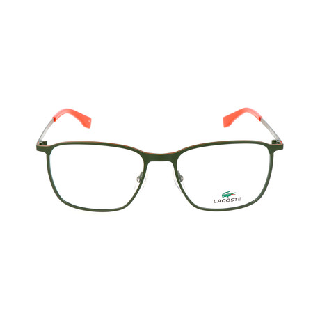 Men's L2233 Optical Frames // Green + Orange