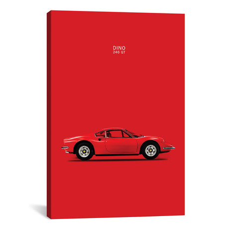 "1969 Ferrari Dino 246 GT (26""W x 18""H x 0.75""D)"