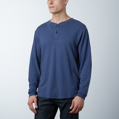 Stretch Henley // Denim Heather (S)