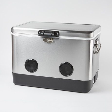 BREKX Party Cooler // Bluetooth Speaker (Stainless Steel)