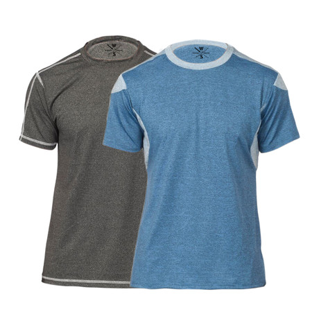 Champ Fitness Tech T-Shirt // Blue + Charcoal // Pack of 2 (XS)