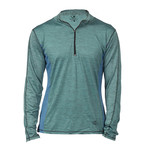 Parry Fitness Tech Pullover // Marbled Blue + Charcoal // Pack of 2 (S)