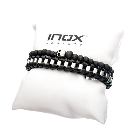 STAX Bracelet Set // Carbon Skull