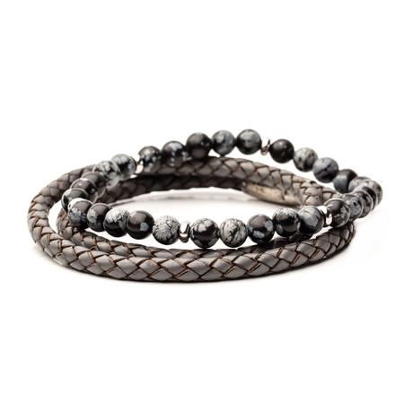 STAX Bracelet Set // Grey