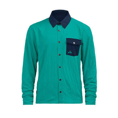 Alpha Shirt Jacket // Aqua (XS)