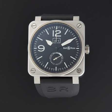 Bell & Ross Aviation Grande Date Reserve De Marche Automatic // BR0390-BL-ST // Store Display