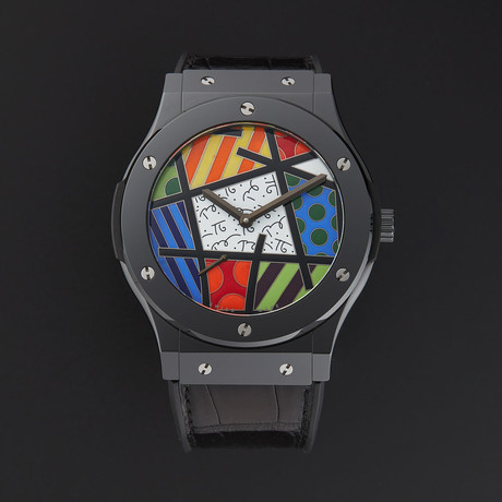 Hublot Classic Fusion Enamel Britto Manual // 515.CS.0910.LR // Store Display