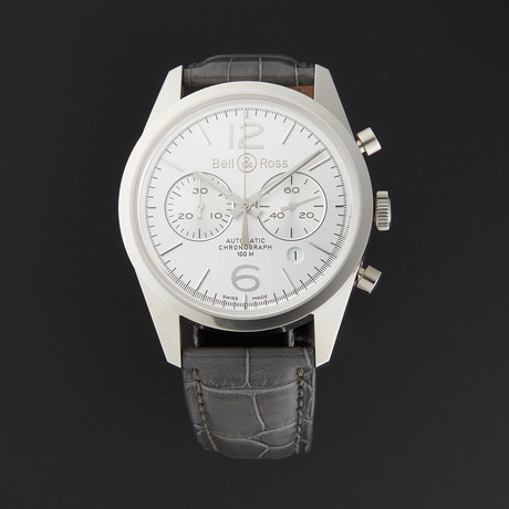 Bell & Ross Vintage Officer Chronograph Automatic // BRG126-WH-ST/SCR // Store Display