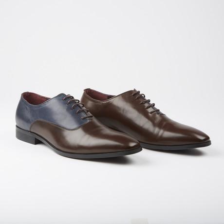 Stockbridge Dress Formal Oxford // Brown Navy (US: 7.5)