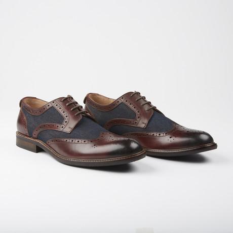 Tollcross Dress Formal Oxford // Brown Denim