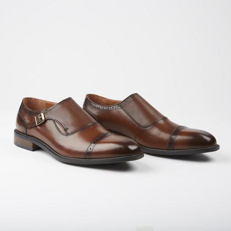 Haymarket Dress Formal Monk Strap // Cognac (US: 7.5)