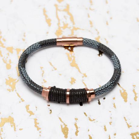 Steve Madden // Blue Leather Bracelet