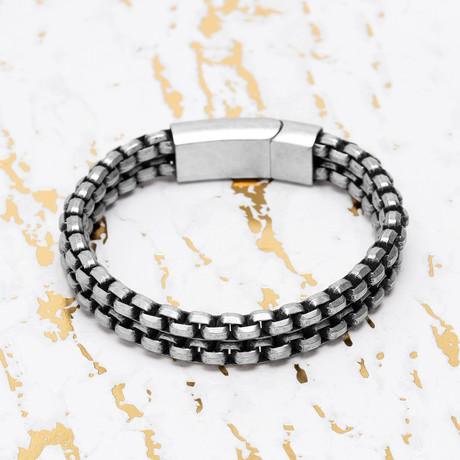 Steve Madden // Double Strand Box Chain Bracelet