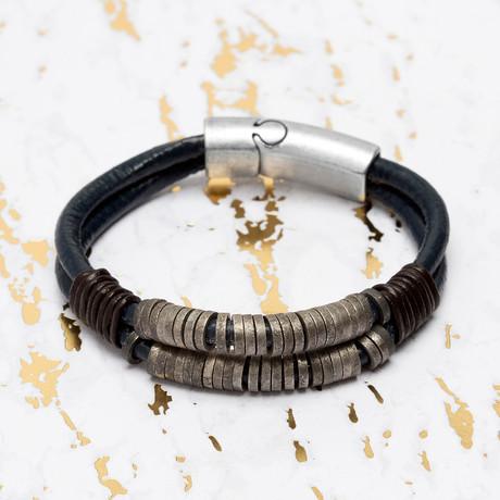 Steve Madden // Double Stranded Leather Bracelet