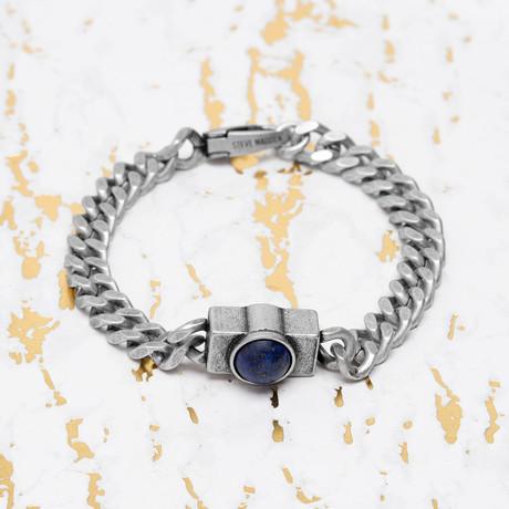 Steve Madden // Lapis Stone Curb Chain Bracelet