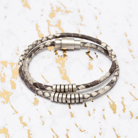 Steve Madden // Snake Print Wrap Leather Bracelet