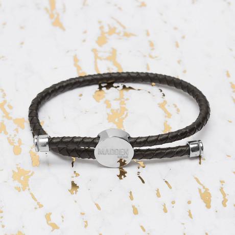 Steve Madden // Braided Leather Slider Bracelet