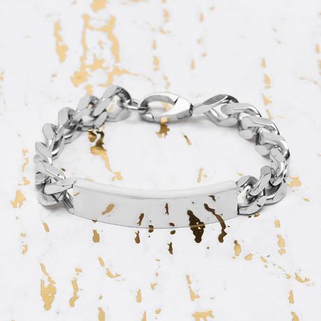 Steve Madden // Plate Curb Chain Bracelet