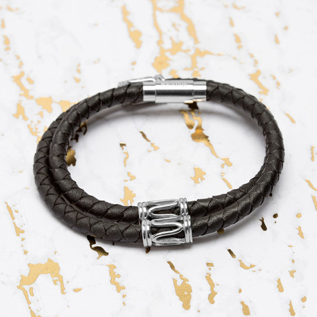 Steve Madden // Wrap Around Leather Bracelet