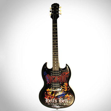 AC/DC // Band Autographed Guitar
