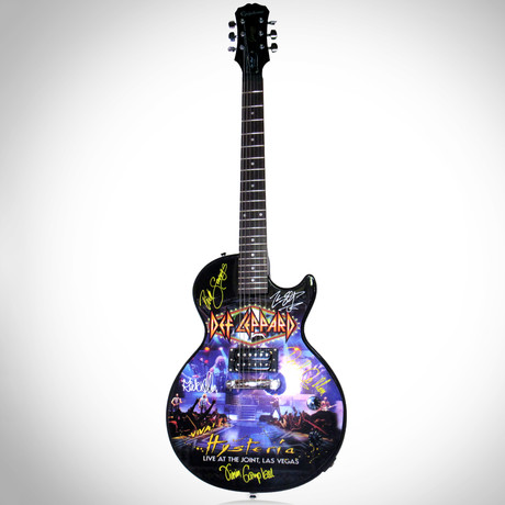 Def Leppard // Band Autographed Guitar