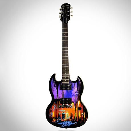 Eagles Hotel California // Band Autographed Guitar