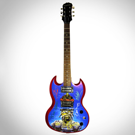 Iron Maiden // Band Autographed Guitar