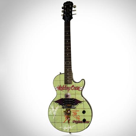 Motley Crue Dr. Feelgood // Band Autographed Guitar
