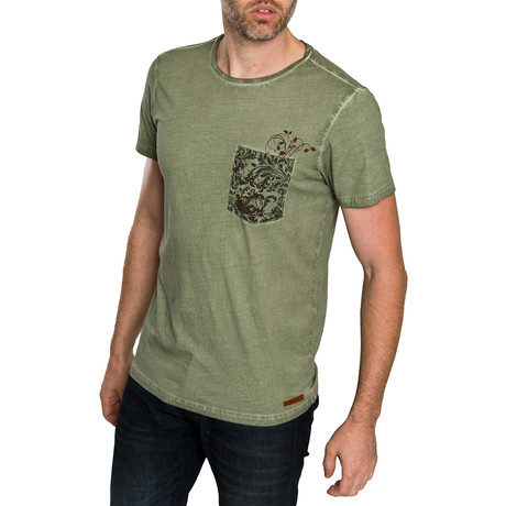 Irving T-Shirt with pocket // Green