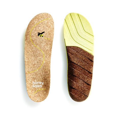 Honey Soles Natural Cork Insoles (Size A (US Women's 4.5 - 6))