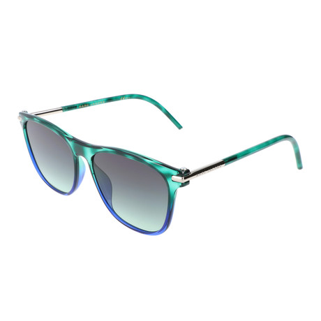 Unisex Hugh Sunglasses // Green + Blue