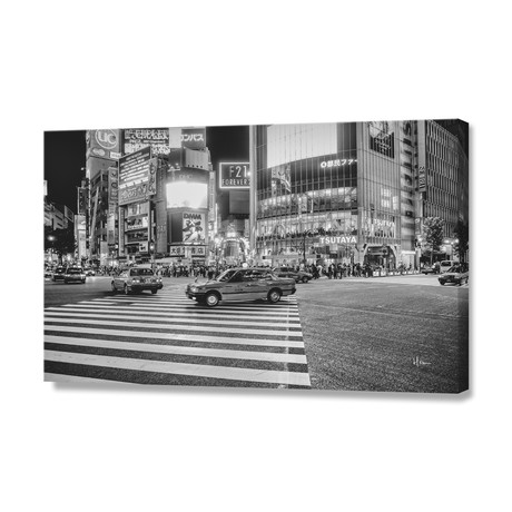 "Shibuya Crossing // Stretched Canvas (24""W x 16""H x 1.5""D)"