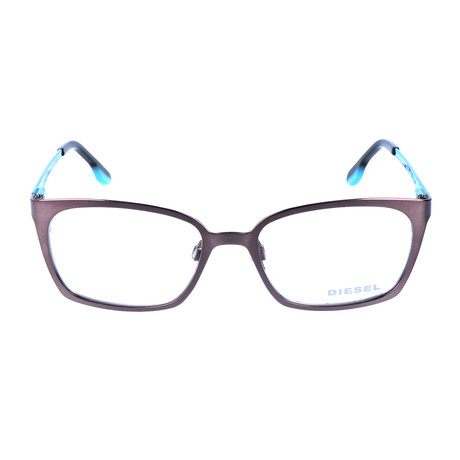 Theo Optical Frame // Silver + Turquoise