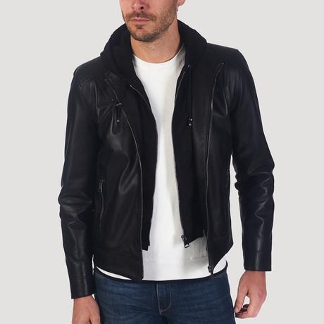 Kennedy Leather Jacket // Black (XS)