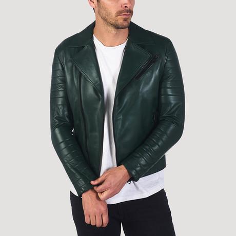 Kearny Leather Jacket // Green (S)