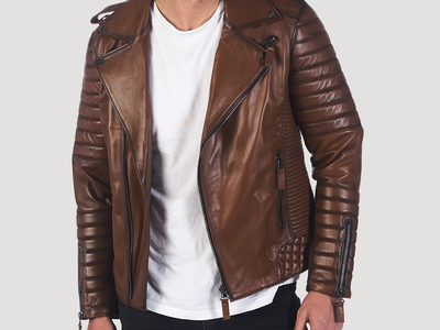 Photo of Giorgio di Mare Classically Cool Leather Jackets Junipero Leather Jacket // Light Brown (S) by Touch Of Modern