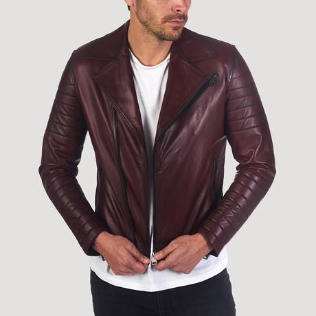 Bush Leather Jacket // Bordeaux (S)