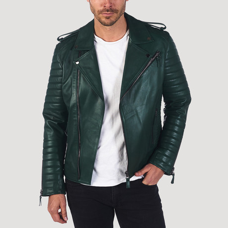 Jefferson Leather Jacket // Green (XS)