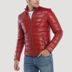 Broadway Leather Jacket // Red (XL)