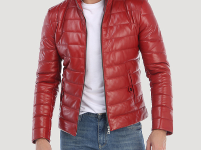 Photo of Giorgio di Mare Leather Moto Jackets Broadway Leather Jacket // Red (S) by Touch Of Modern