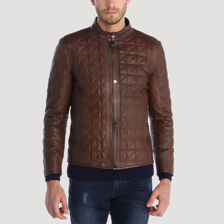 Belden Leather Jacket // Brown (XS)