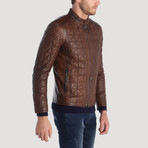 Belden Leather Jacket // Brown (XS)