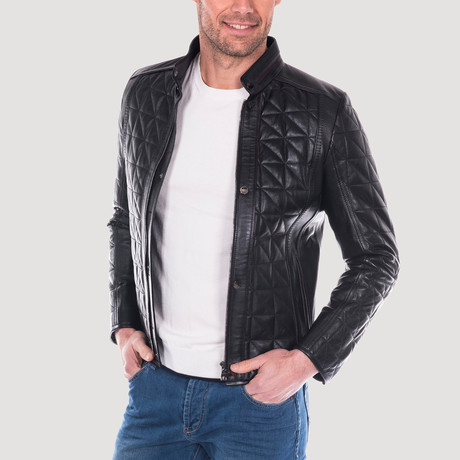 Clarion Leather Jacket // Black (XS)