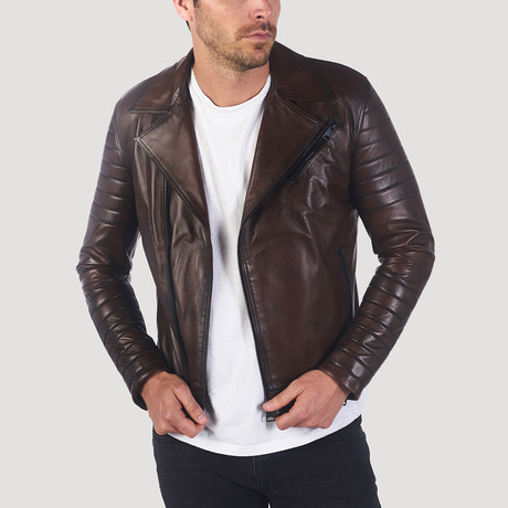 Lincoln Leather Jacket // Brown (S)