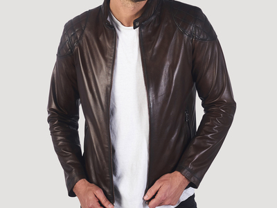 Giorgio di Mare Leather Moto Jackets Skyline Leather Jacket // Chestnut (S) by Touch Of Modern - Denver Outlet