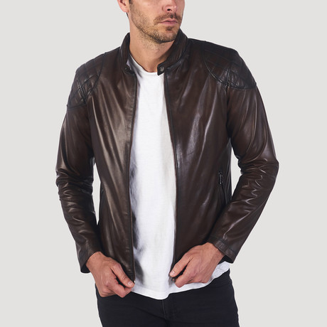Skyline Leather Jacket // Chestnut (S)